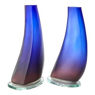 Alfredo Barbini Scavo Vases - a Pair