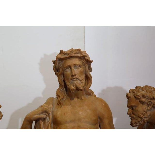 French Terracotta Sculpture of Christ Before Crucifixion For Sale - Image 9 of 10