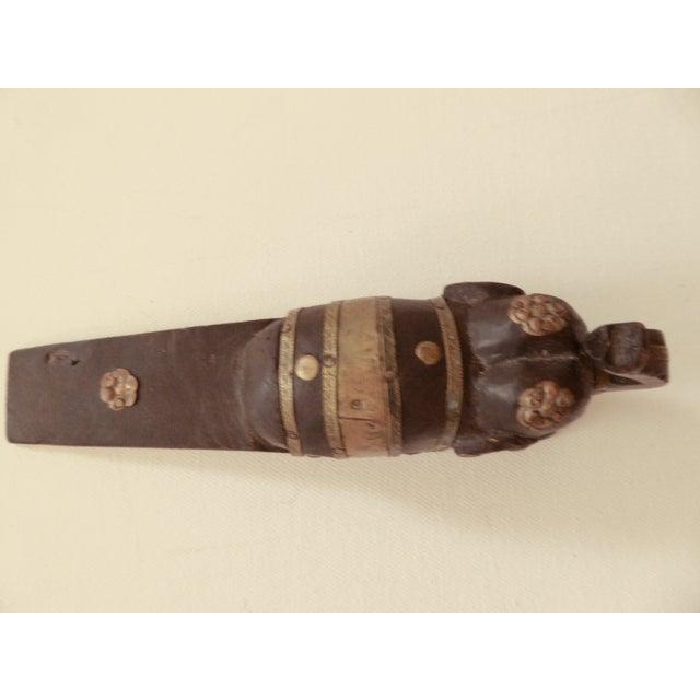 Vintage Elephant Wooden Door Stopper - Image 6 of 7