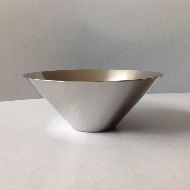 Silver Gabis Sweden Stainless Steel Bowl by Nils Nisbel For Sale - Image 8 of 9