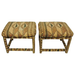 Pair of Mid-Century Modern Milo Baughman Parsons Benches for Thayer Coggin For Sale