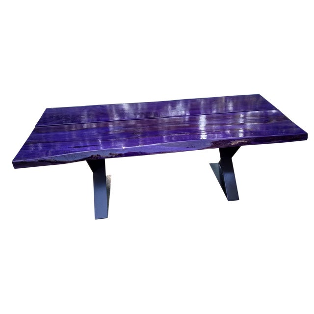 Modern Planked Table - Image 1 of 5