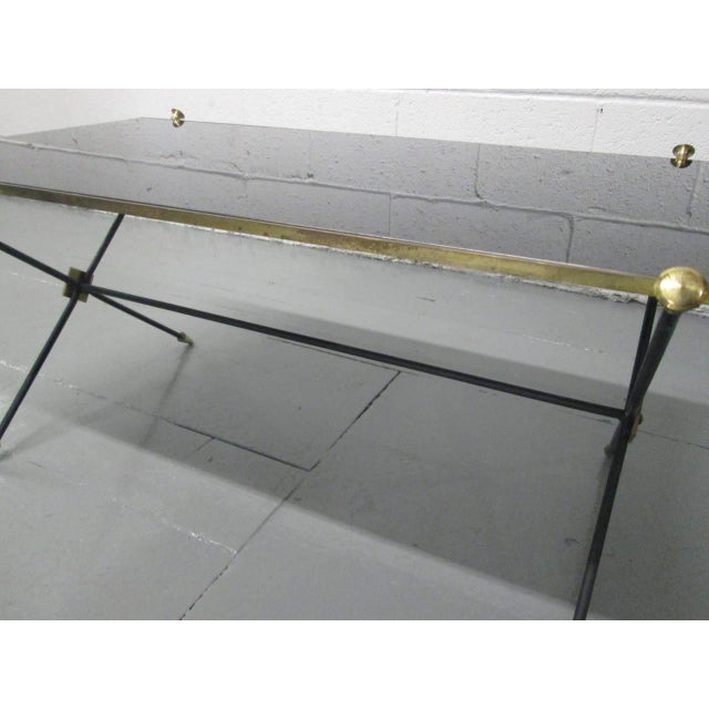 Brass and Iron Coffee Table Attributed to Arturo Pani - Image 4 of 9