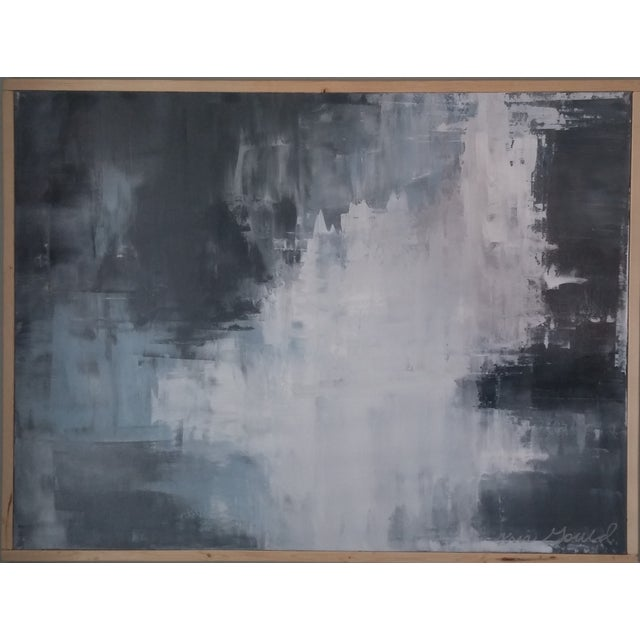"""Slate"" Framed Abstract Art by Kris Gould - Image 1 of 5"