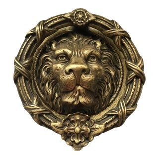 Reproduction Lion Head Door Knocker For Sale