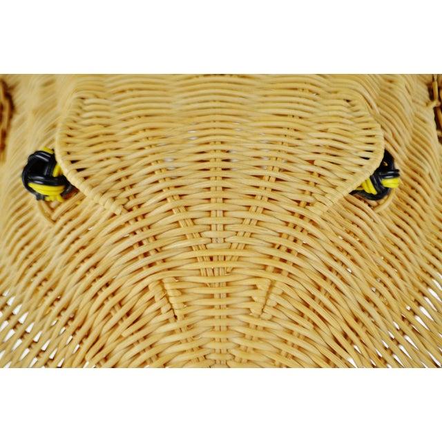 Vintage Natural Wicker Frog Planter Basket For Sale - Image 10 of 13