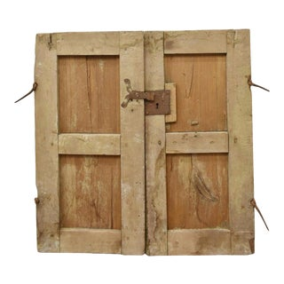 Rustic 19th Century Mexican Architectural Window - a Pair For Sale