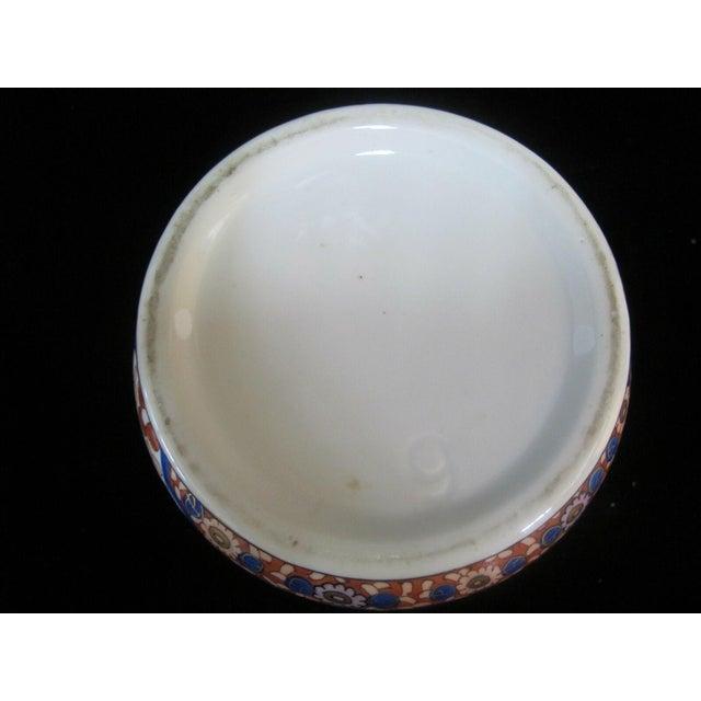 Vintage Porcelain Imari Pot Small Handle Vase Jar Gold Gilt Floral Design For Sale In Portland, OR - Image 6 of 7