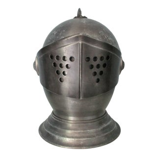 Vintage Knight's Helmet Ice Bucket For Sale