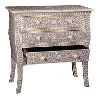 Imperial Beauty 3 Drawer Dresser in Lilac For Sale
