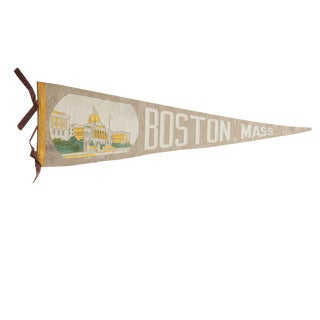 Vintage Boston, Mass. Felt Flag Pennant