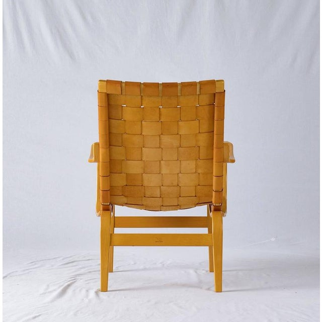 "Bruno Mathsson Leather ""EVA"" Lounge Chair - Image 4 of 10"