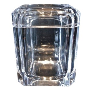 Charles Hollis Jones Lucite Ice Bucket W/ Tongs For Sale