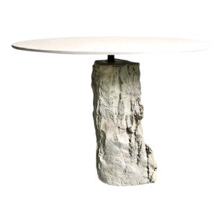 Organic Modern Concrete Terrazzo Accent Table For Sale