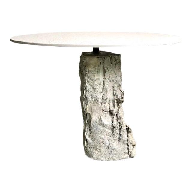 Organic Modern Concrete Terrazzo Accent Table For Sale