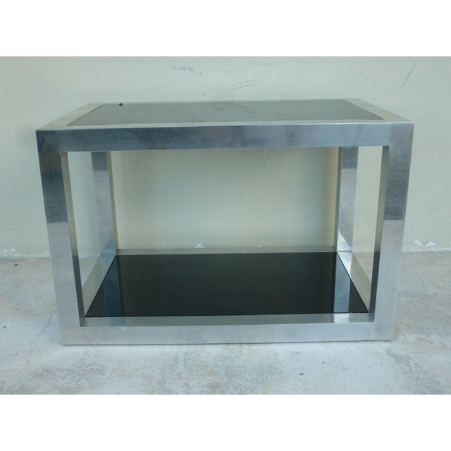 Mid-Century Modern 1970's Vintage Pace Style Aluminum Rectangular Table For Sale - Image 3 of 11