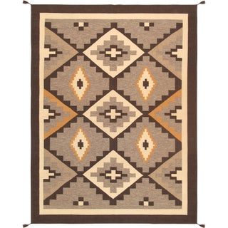 "Kilim Style Hand-Woven Area Rug - 8'11"" X 11'10"" For Sale"