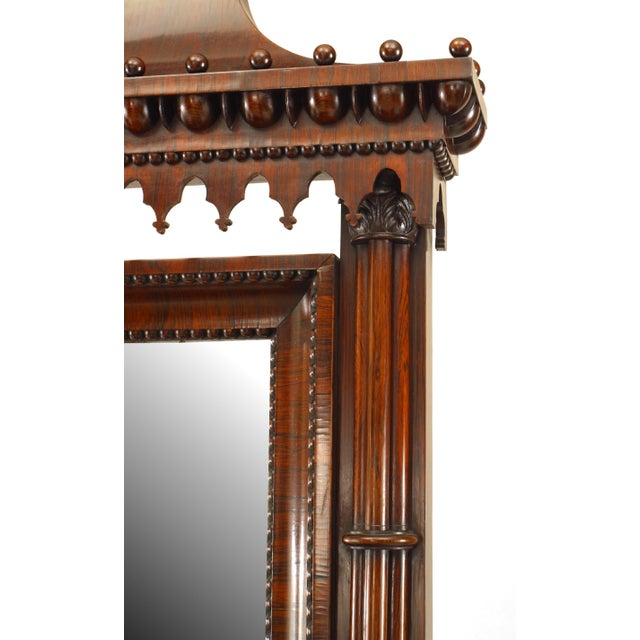 English Regency Style Gothic Design Chest of Drawers For Sale - Image 9 of 13