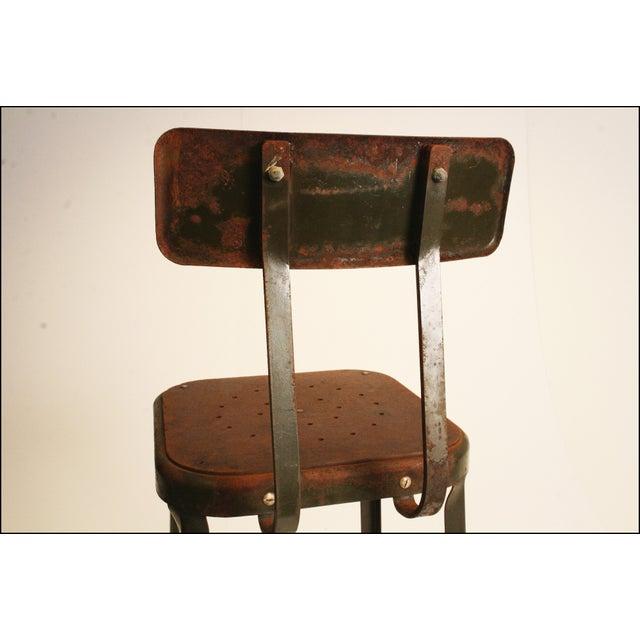 Vintage Industrial Metal Drafting Stool - Image 9 of 11