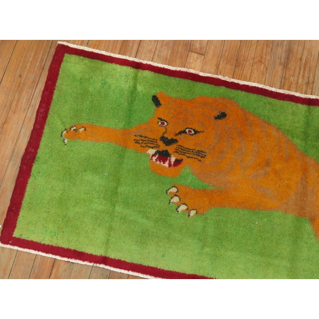 Mid 20th Century Angry Tiger Vintage Turkish Rug, 2'3'' X 4'6'' For Sale - Image 5 of 10