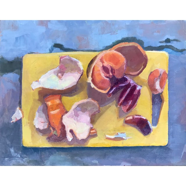 Original oil painting of blood oranges and tangerines on a cutting board. Painting comes framed in a 1 inch deep thin...