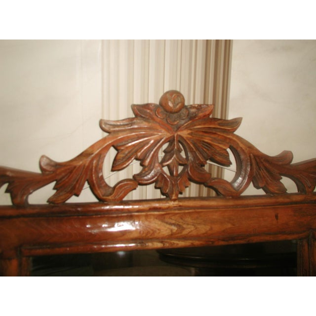 Carved Wooden Mirror 19th Century For Sale - Image 4 of 8