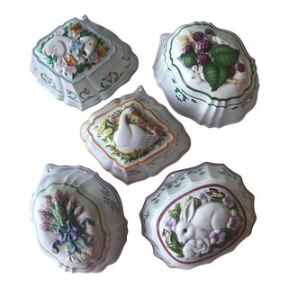 Vintage Ceramic Kitchen Molds - Set of 5 For Sale