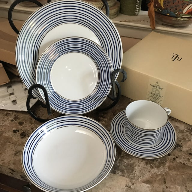 Ralph Lauren Regatta Stripe Place Setting - 5 Pieces - Image 3 of 8