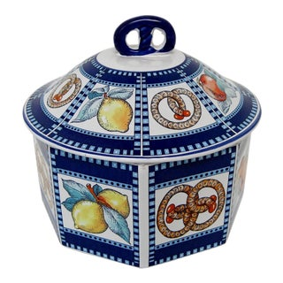 Late 20th Century Vintage Italian Ceramic Lidded Container For Sale