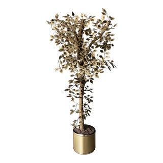1970s C. Jere Massive Brass Tree Sculpture For Sale