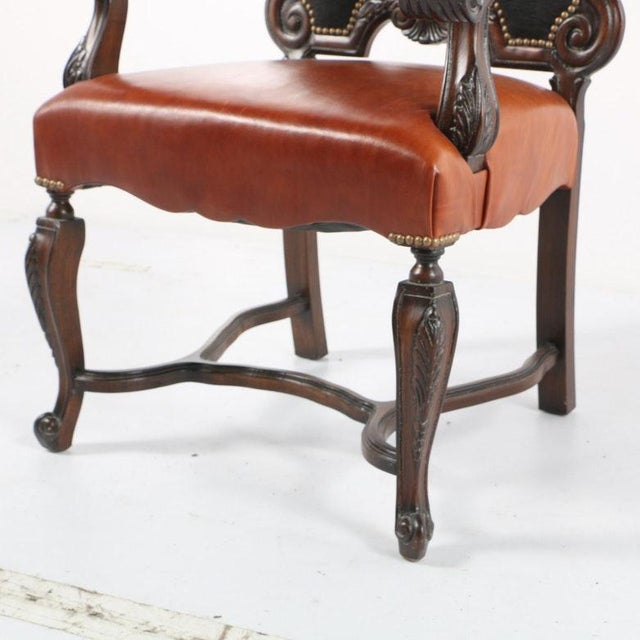 Late 20th Century Vintage Louis XIV Style Armchair For Sale - Image 4 of 11