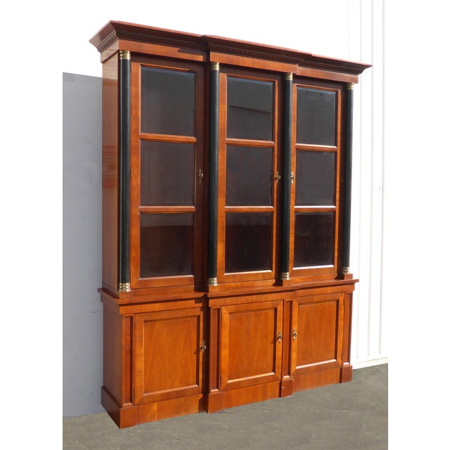 Baker Furniture Company Vintage Baker Furniture Federal Style Solid Wood China Hutch Cabinet For Sale - Image 4 of 11
