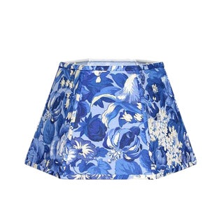 French Blue and White Floral Uno Lamp Shade For Sale