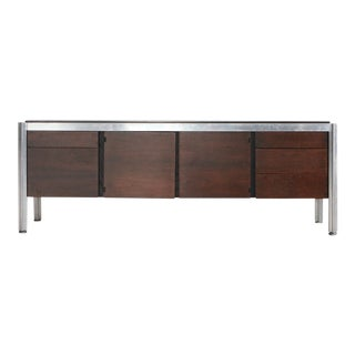 1960s Mid-Century Modern George Ciancimino Rosewood and Cast Aluminum Credenza For Sale