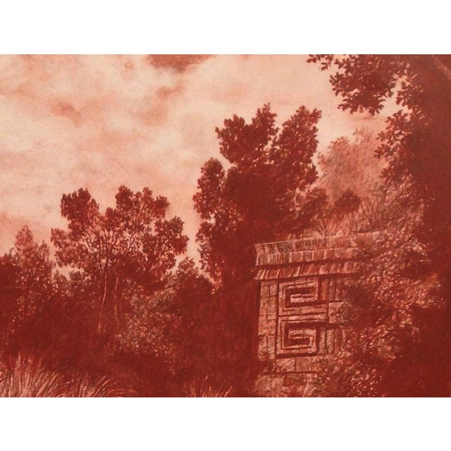 "Figurative Illustration of Mayan Ruins, ""Habitat Maya No.3"" For Sale - Image 3 of 5"