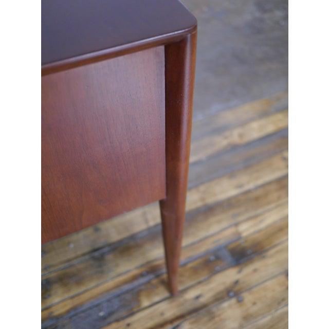 Walnut T. H. Robsjohn-Gibbings Walnut Desk For Sale - Image 7 of 8