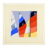 "Image of Bright Sails "" Big Creek Color II"" Serigraph on Paper For Sale"