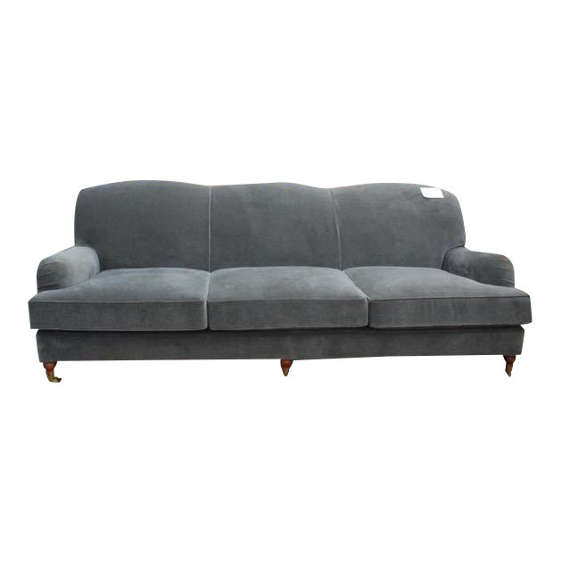 Ralph Lauren Home Langholm Gray Velvet Sofa - Image 1 of 5