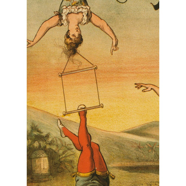 "French ""Descente D'Absalon"" Print of French Circus Poster For Sale - Image 3 of 5"