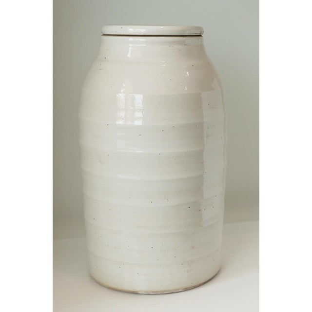 1980s Organic White Jar With Lid For Sale In Palm Springs - Image 6 of 6