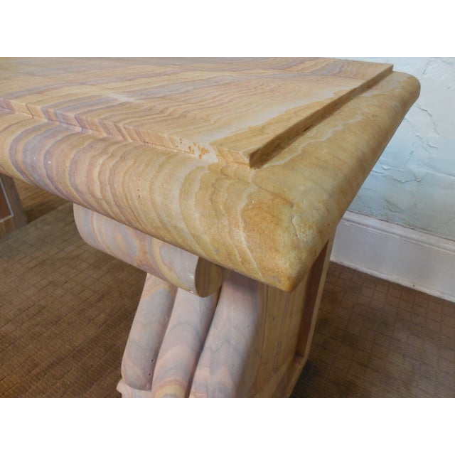 Vintage Marble Neoclassical Garden Console Table - Image 9 of 10