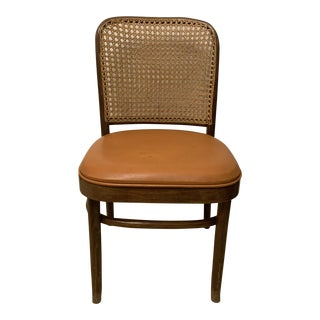 1970s Vintage Hoffman Bentwood and Cane Cafe Chair For Sale