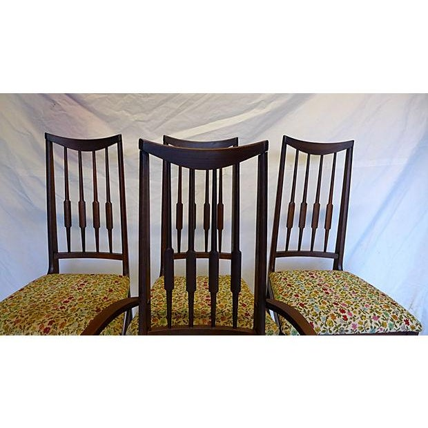 Mid-Century Modern Mid-Century Reed-Back Dining Chairs - Set of 4 For Sale - Image 3 of 8