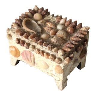 Vintage Sea Shell Box For Sale