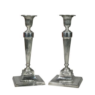 Pair of George III Sterling Candlesticks For Sale