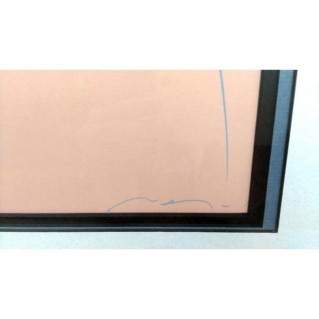 "Patrick Nagel Patrick Nagel ""Commemorative #3"" Serigraph For Sale - Image 4 of 4"