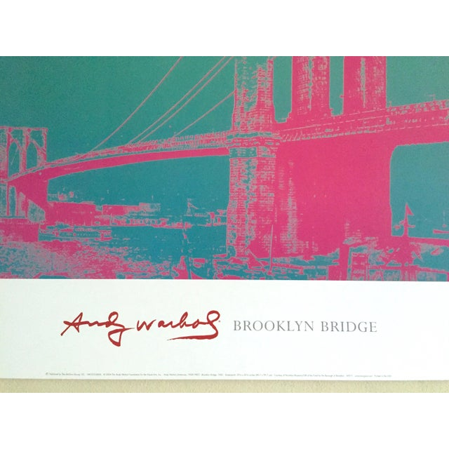 """Andy Warhol Foundation Vintage Pop Art Lithograph Poster """" Brooklyn Bridge """" 1983 For Sale In New York - Image 6 of 9"""