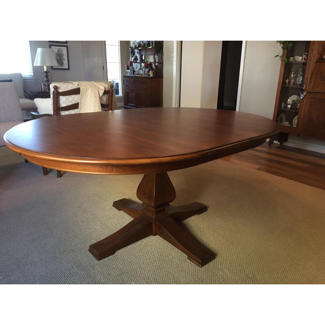 New Ethan Allen Camden Round Dining Table With Leaf