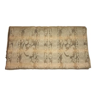1970s Vintage Beige & Gold Fabric For Sale