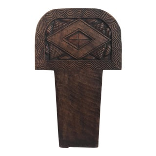 Carved Wood Decorative Element For Sale
